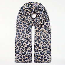 Buy John Lewis Animal Motif Scarf, Navy Mix Online at johnlewis.com