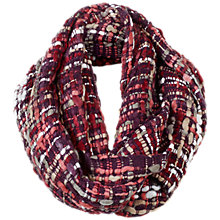 Buy Fat Face Millie Mixed Yarn Snood, Purple/Multi Online at johnlewis.com