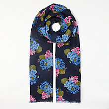 Buy John Lewis Hydrangea Print Scarf, Navy/Multi Online at johnlewis.com
