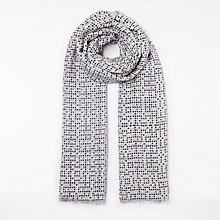 Buy John Lewis Square Dot Print Scarf, Black Mix Online at johnlewis.com