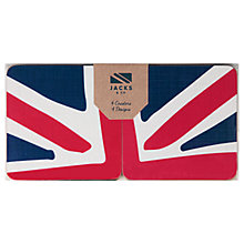 Buy Jacks & Co Great Britain Coasters, Set of 4, Red/Blue/White Online at johnlewis.com
