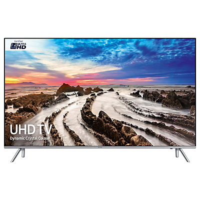 Samsung UE75MU7000 HDR 4K Ultra HD Smart TV, 75 with TVPlus/Freesat HD, Dynamic Crystal Colour & 360 Design, Silver, Ultra HD Certified