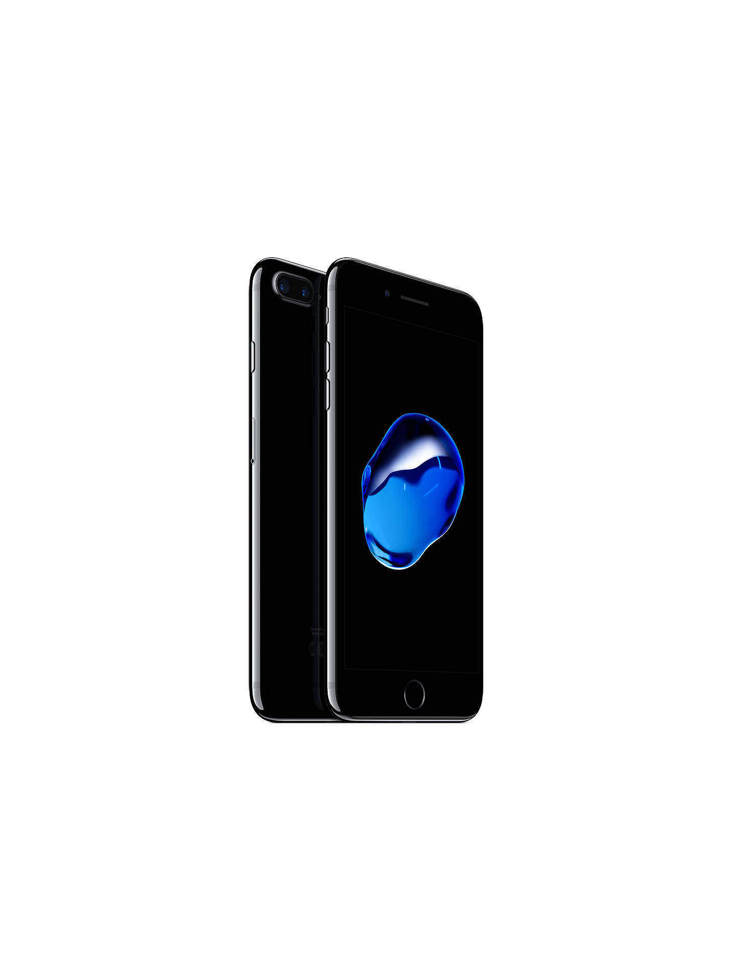 "BuyApple iPhone 7 Plus, iOS 10, 5.5"", 4G LTE, SIM Free, 32GB, Jet Black Online at johnlewis.com"