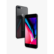 "Buy Apple iPhone 8 Plus, iOS 11, 5.5"", 4G LTE, SIM Free, 64GB Online at johnlewis.com"