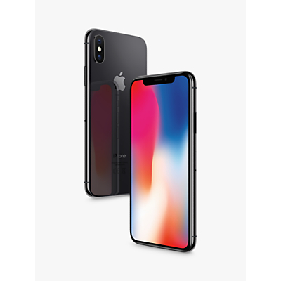 Image of Apple iPhone X, iOS 11, 5.8, 4G LTE, SIM Free, 64GB