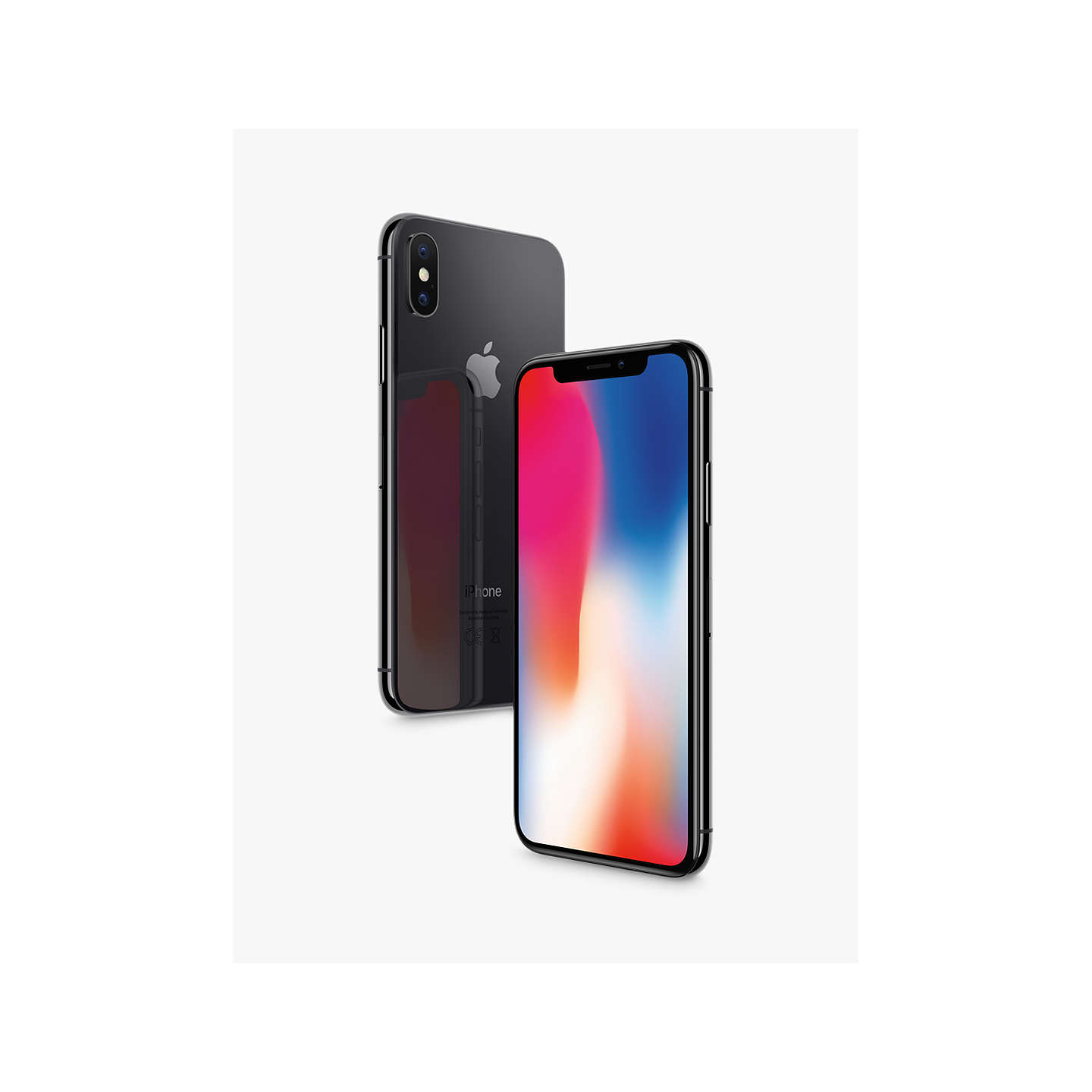 apple iphone x ios 11 5 8 4g lte sim free 64gb at john lewis. Black Bedroom Furniture Sets. Home Design Ideas