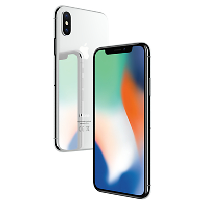Image of Apple iPhone X, iOS 11, 5.8, 4G LTE, SIM Free, 256GB