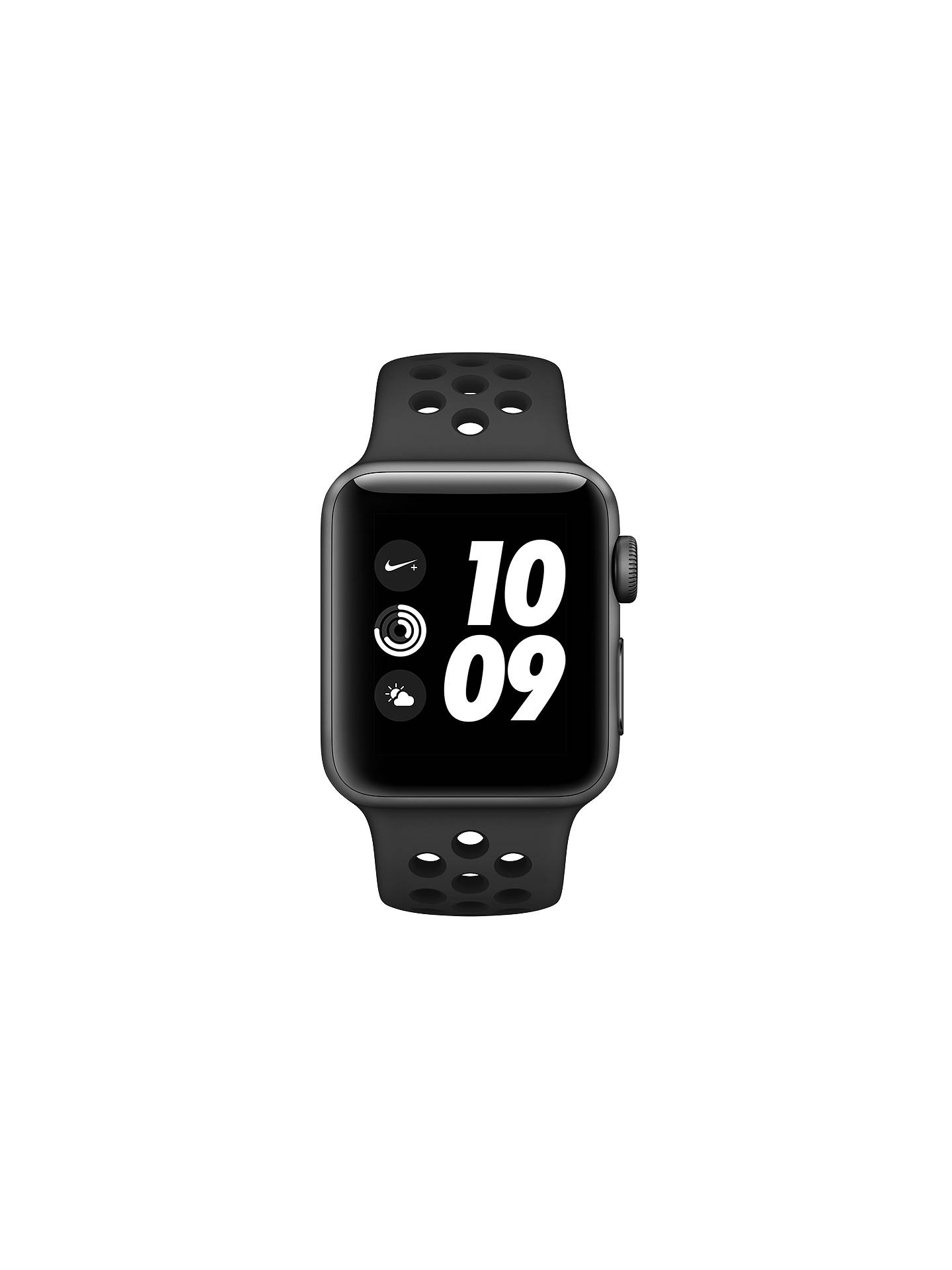 Buy Apple Watch Nike+ Series 3, GPS, 38mm Space Grey Aluminium Case with Nike Sport Band, Anthracite / Black Online at johnlewis.com