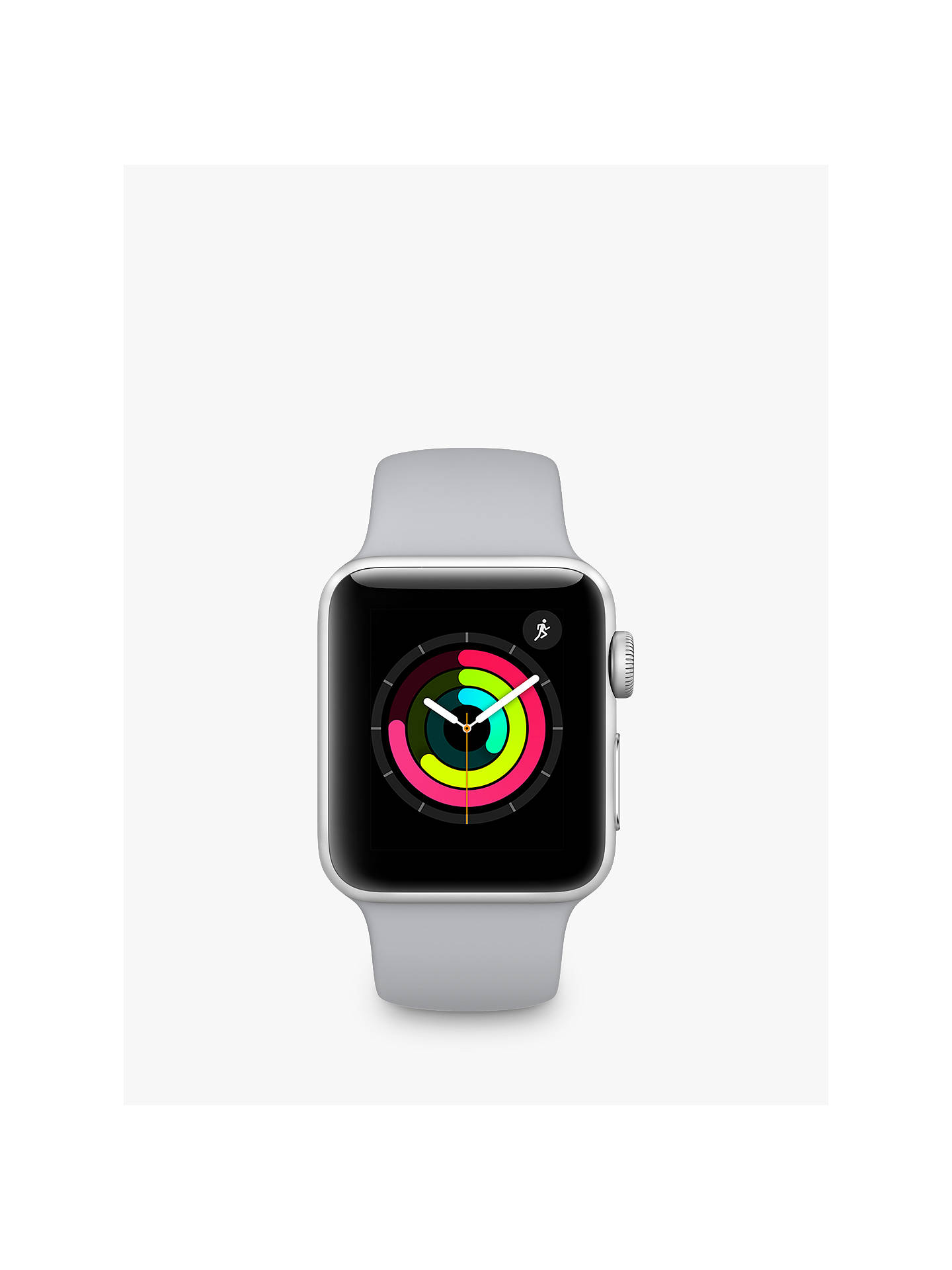 BuyApple Watch Series 3, GPS, 38mm Silver Aluminium Case with Sport Band, Fog Online at johnlewis.com