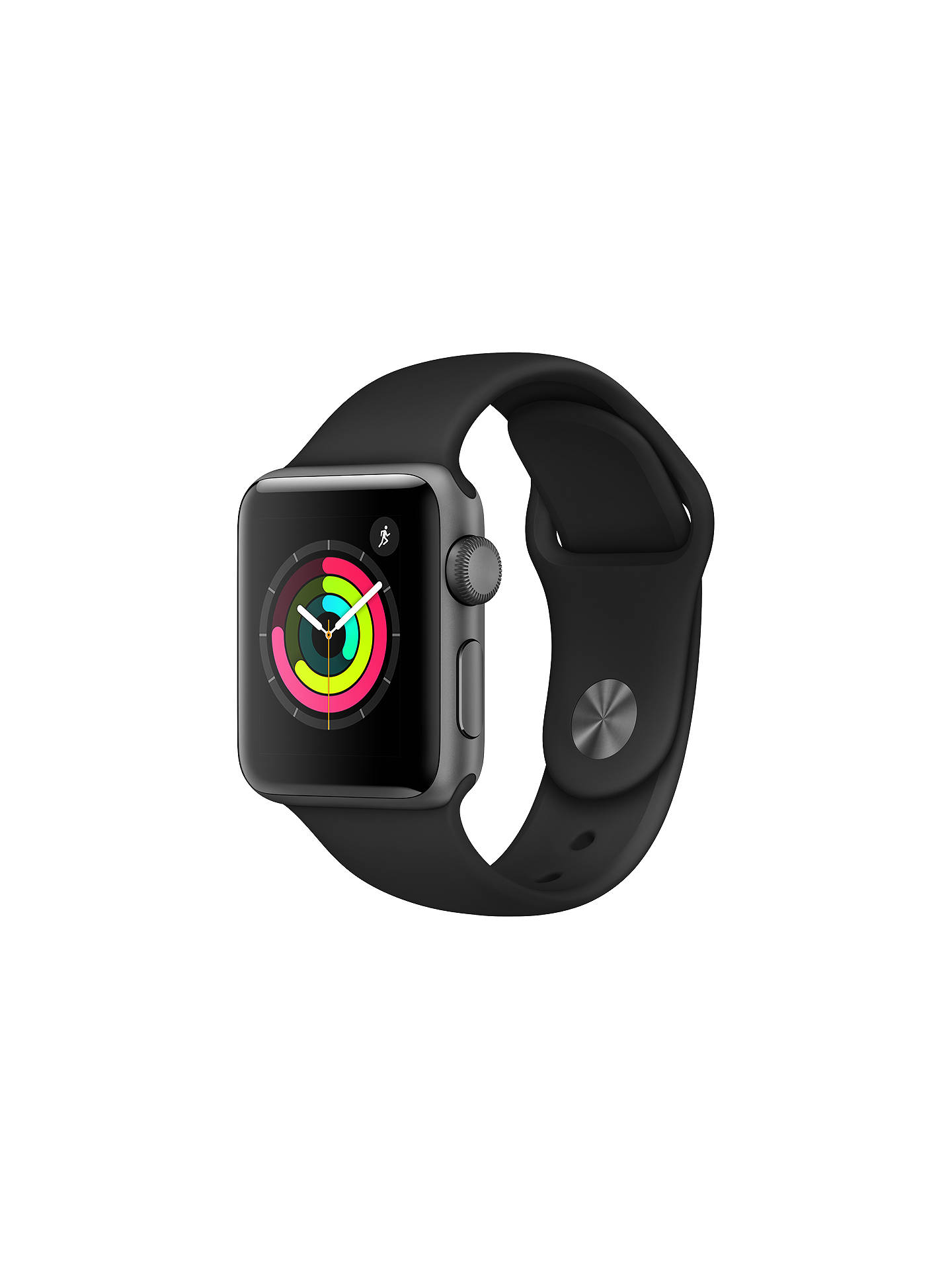 Buy Apple Watch Series 3, GPS, 38mm Space Grey Aluminium Case with Sport Band, Black Online at johnlewis.com