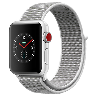 Apple Watch Series 3, GPS and Cellular, 38mm Silver Aluminium Case with Sport Loop, Seashell Review thumbnail
