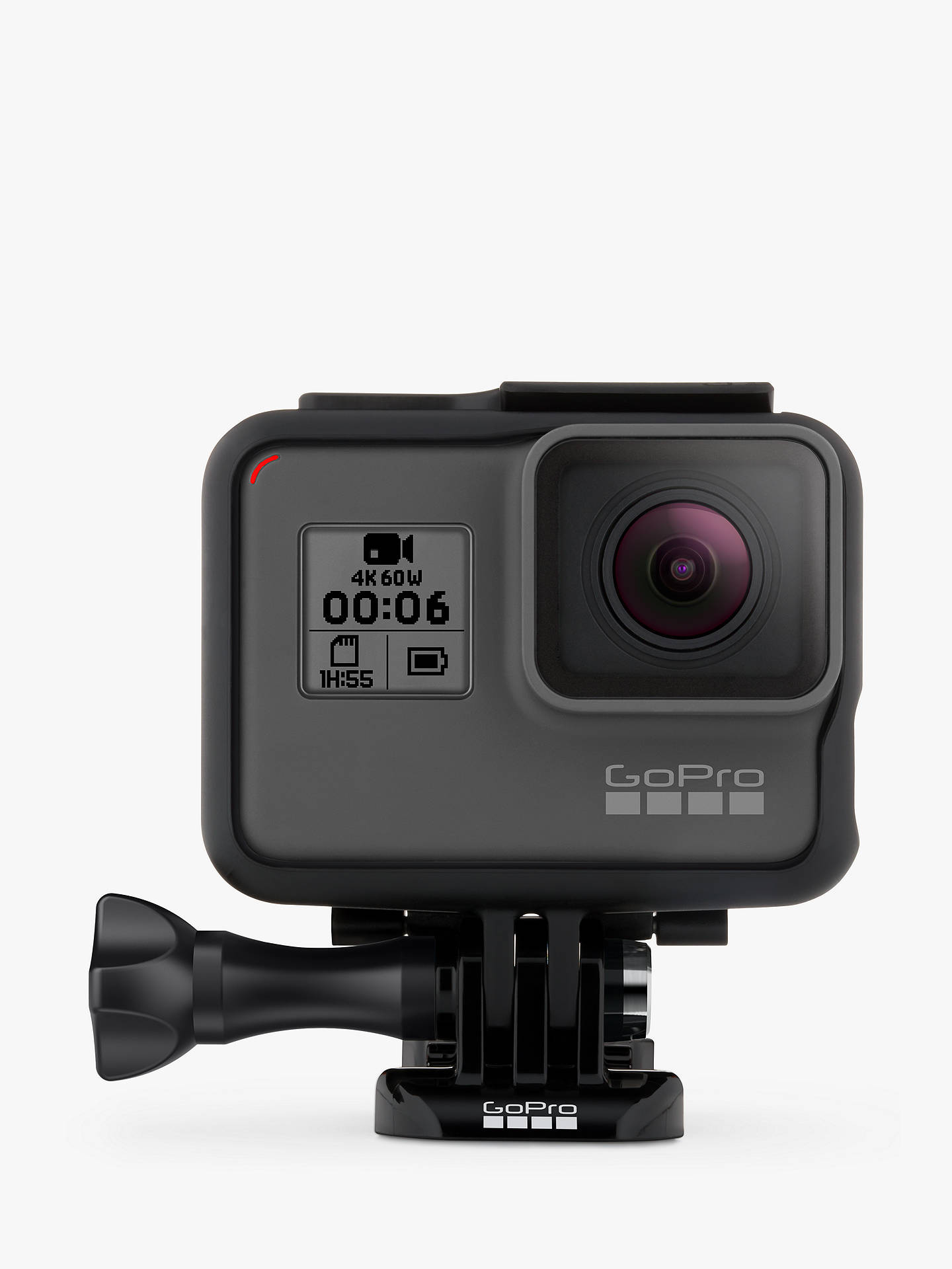 BuyGoPro HERO6 Black Edition Camcorder, 4K Ultra HD, 60 FPS, 12MP, Wi-Fi, Waterproof, GPS Online at johnlewis.com