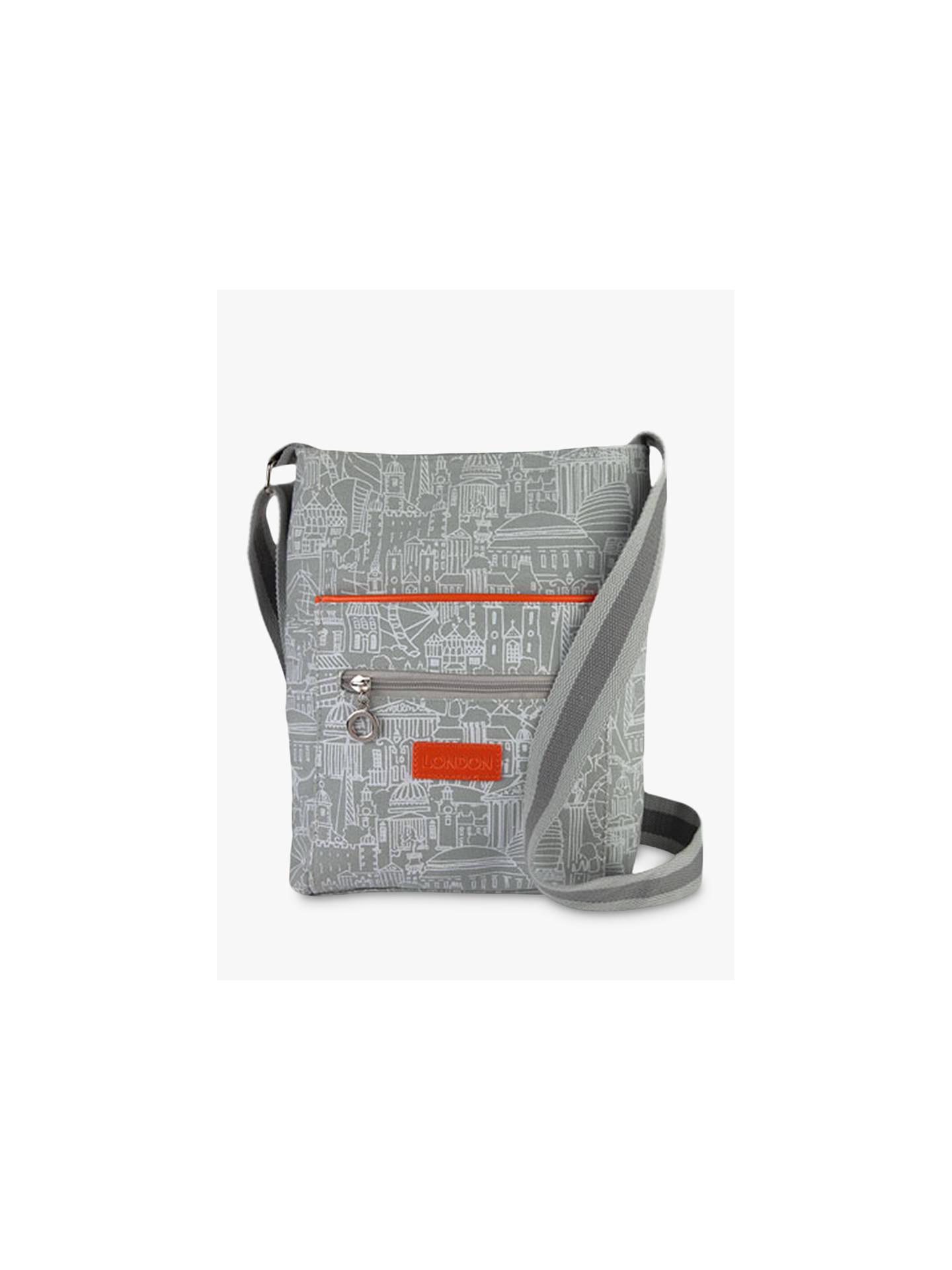 536211299188 Sketch London Cross Body Bag, Grey