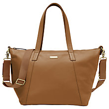 Buy Storksak Noa Leather Changing Bag, Tan Online at johnlewis.com