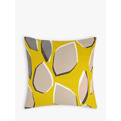 John Lewis Axel Cushion, Citrine / Grey