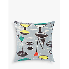 Buy Lucienne Day Flotilla Cushion, Grey Online at johnlewis.com