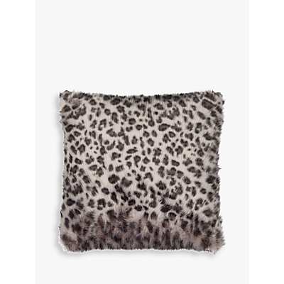 Helene Berman Lynx Spot Faux Fur Cushion, Grey
