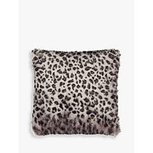 Buy Helene Berman Lynx Spot Faux Fur Cushion, Grey Online at johnlewis.com
