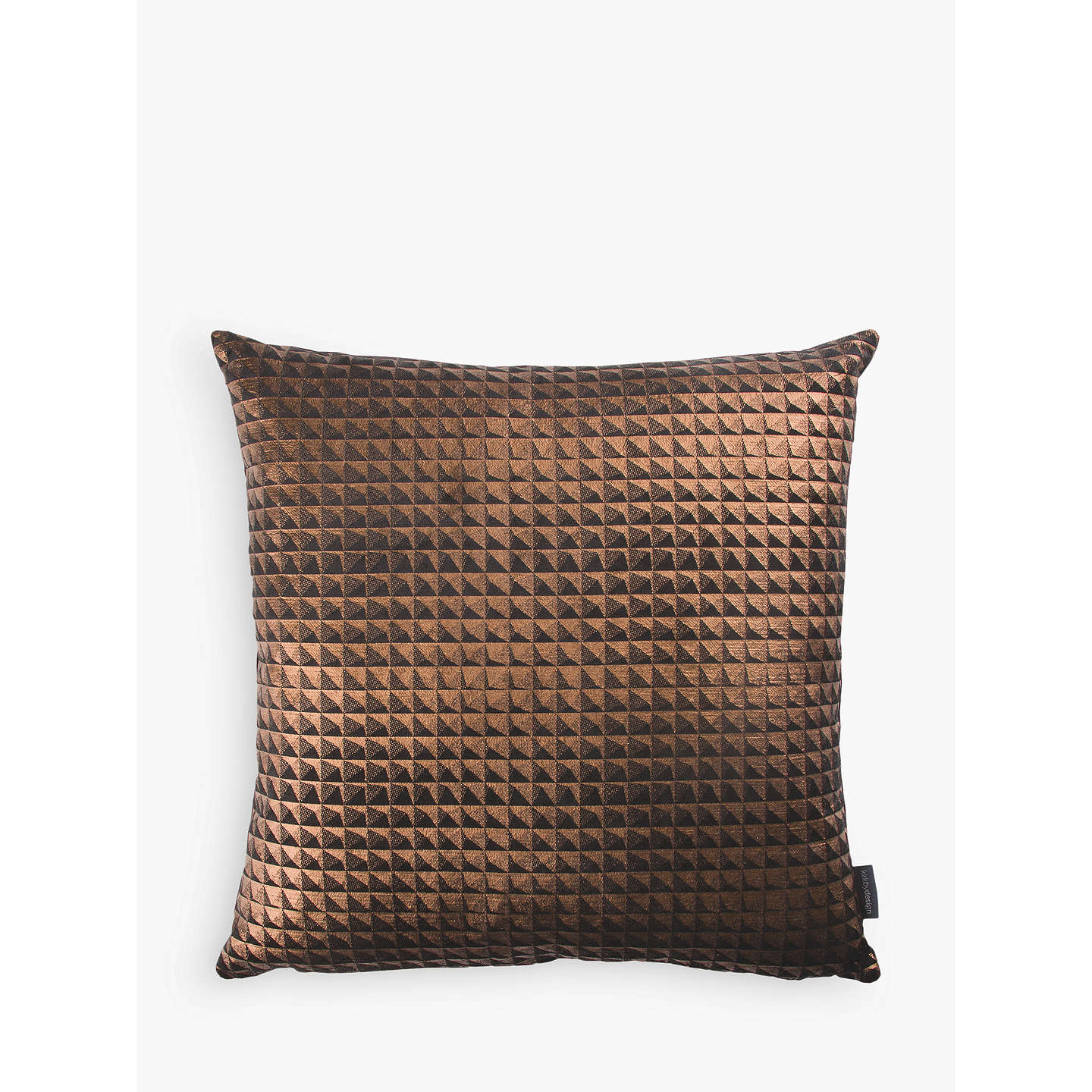 BuyKirkby Design by Romo Eley Kishimoto Collection Moonlit Pyramid Cushion, Bronze Online at johnlewis.com