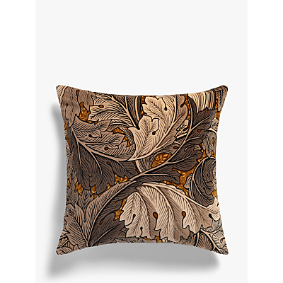 Morris & Co Acanthus Velvet Cushion, Slate