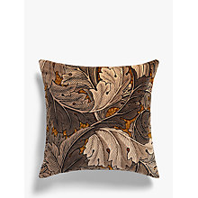 Buy Morris & Co Acanthus Velvet Cushion, Slate Online at johnlewis.com