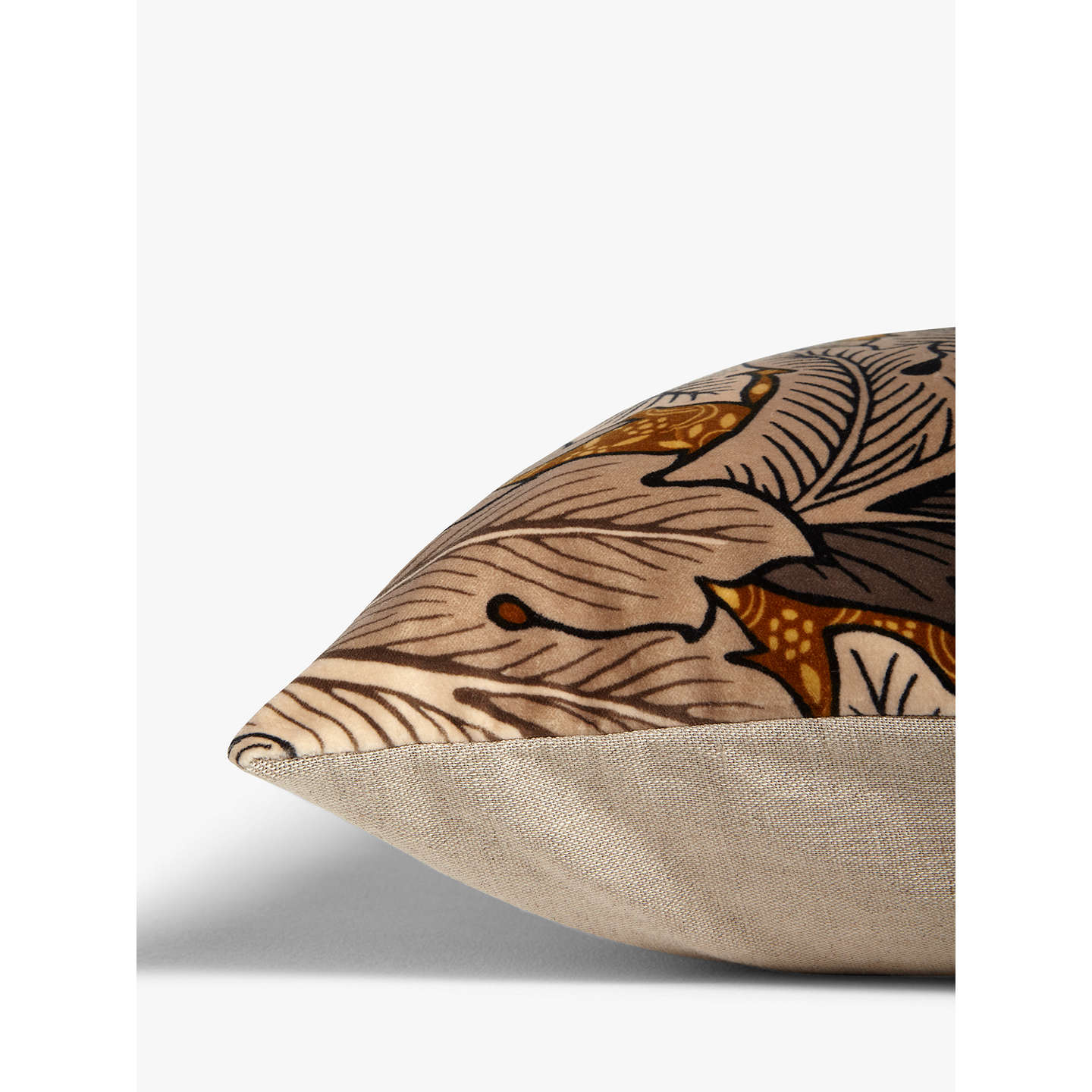 BuyMorris & Co. Acanthus Velvet Cushion, Slate Online at johnlewis.com