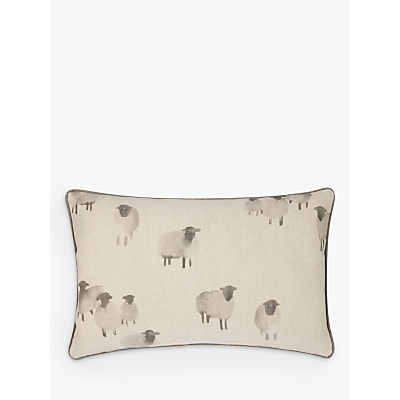 John Lewis Highland Myths Sheep Cushion, Blue Grey