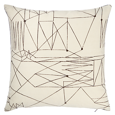 Lucienne Day Graphica Cushion, Black / White
