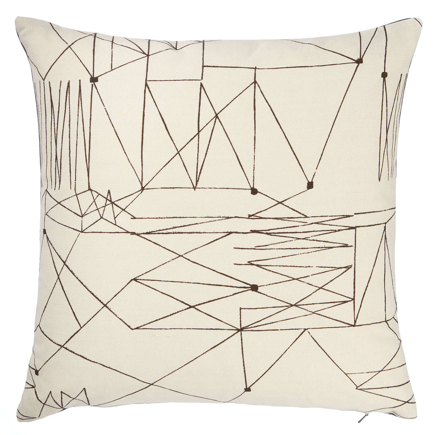 BuyLucienne Day Graphica Cushion, Black / White Online at johnlewis.com