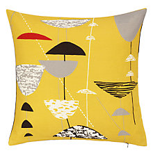 Buy Lucienne Day Calyx Cushion, Mustard Online at johnlewis.com