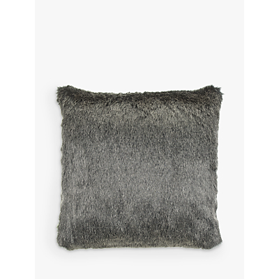 Helene Berman Faux Fur Cushion, Steely Frost