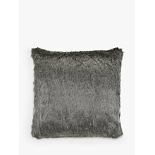Buy Helene Berman Faux Fur Cushion, Steely Frost Online at johnlewis.com