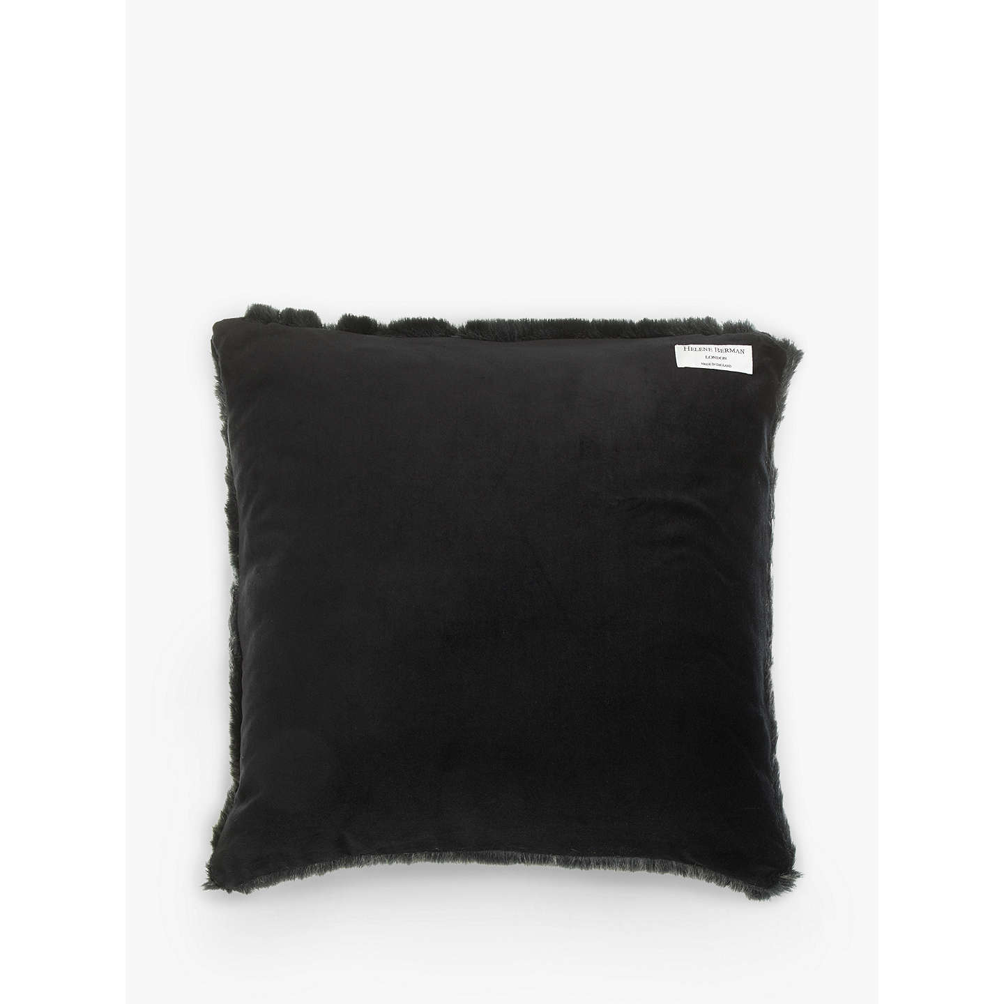 BuyHelene Berman Faux Fur Cushion, Steely Frost Online at johnlewis.com