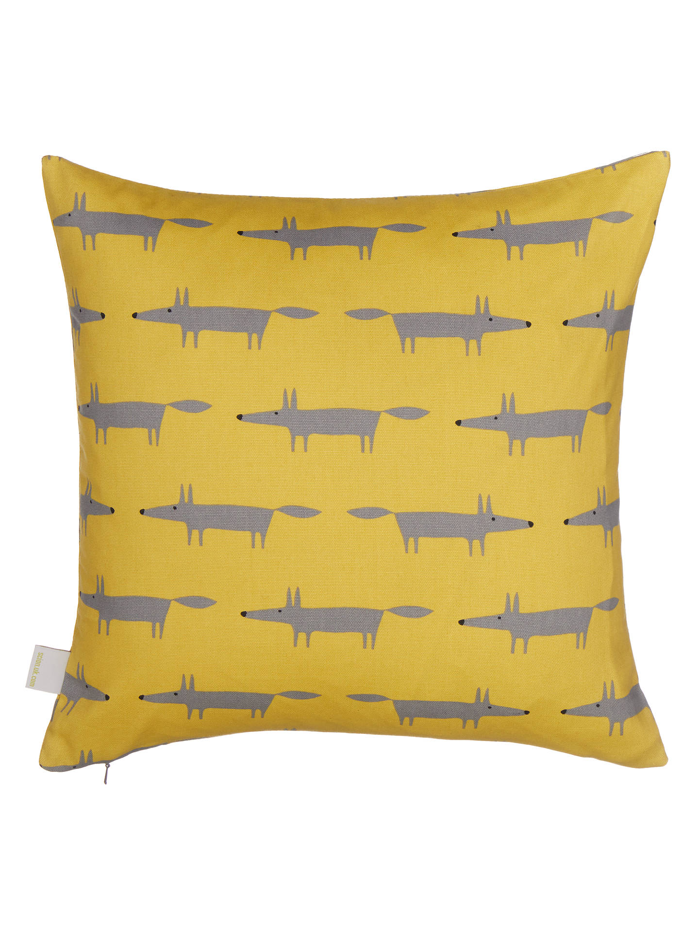 Buy Scion Mini Mr Fox Cushion, Sulphur Online at johnlewis.com