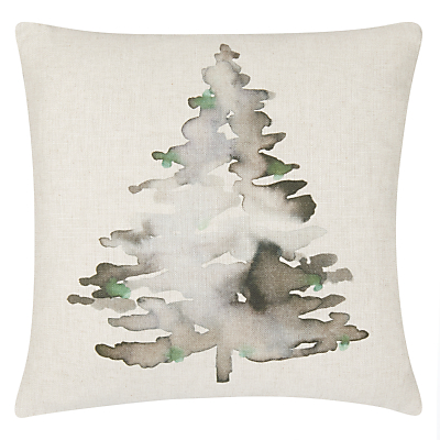 John Lewis Highland Myths Christmas Tree Cushion, Evergreen