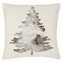Buy John Lewis Highland Myths Christmas Tree Cushion, Evergreen Online at johnlewis.com