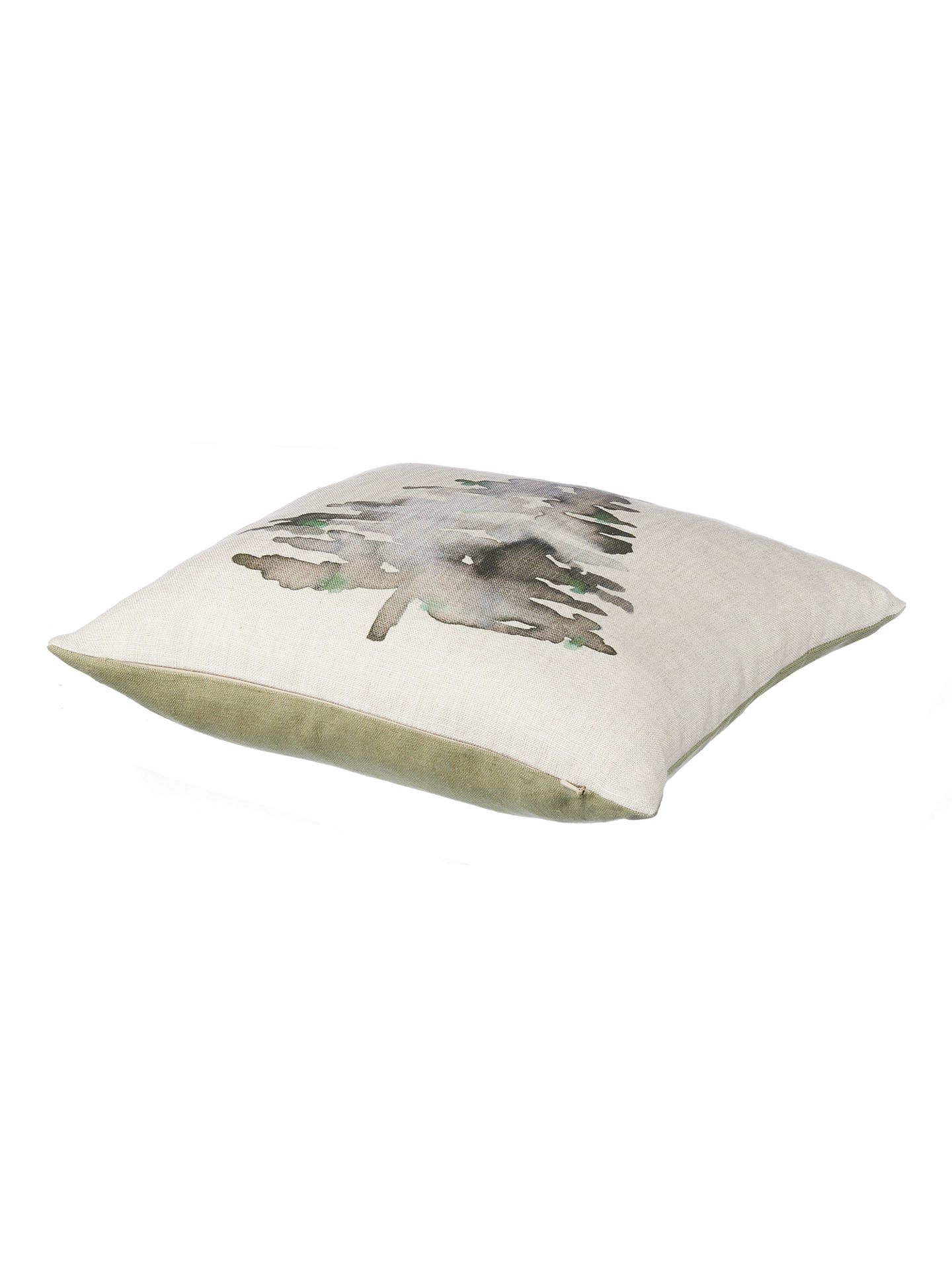 BuyJohn Lewis Highland Myths Christmas Tree Cushion, Evergreen Online at johnlewis.com