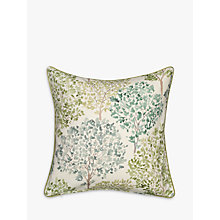 Buy John Lewis Leckford Trees Cushion, Green Online at johnlewis.com