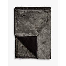 Buy Helene Berman Faux Fur Throw, Charcoal Frost Online at johnlewis.com