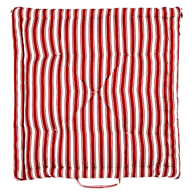 John Lewis Ticking Stripe Boxed Seat Pad