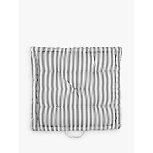 Buy John Lewis Ticking Stripe Boxed Seat Pad Online at johnlewis.com