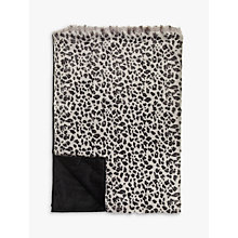 Buy Helene Berman Grey Leopard Faux Fur Throw Online at johnlewis.com