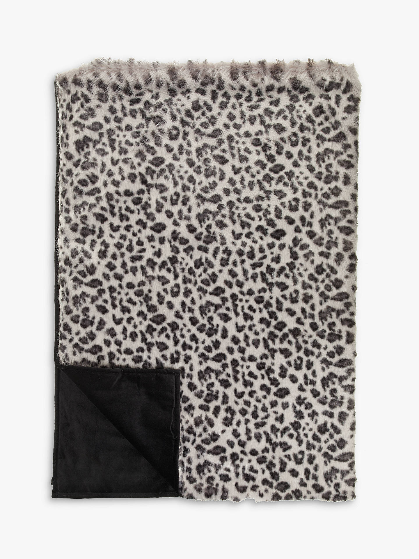 BuyHelene Berman Grey Leopard Faux Fur Throw Online at johnlewis.com