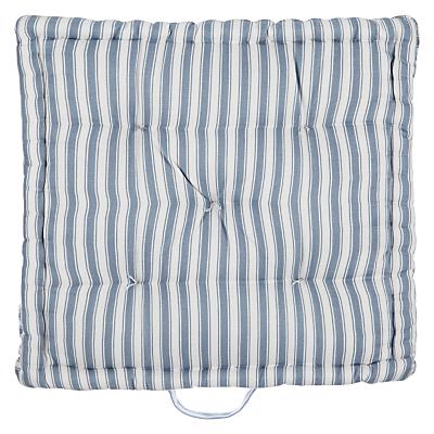 John Lewis Ticking Stripe Boxed Seat Pad