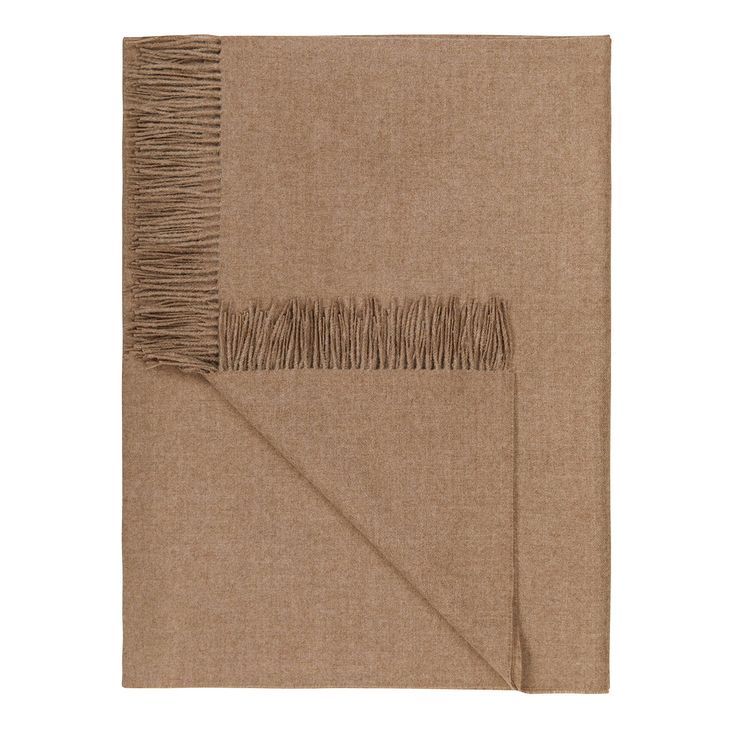 BuyCroft Collection Alpaca Throw, Tan Online at johnlewis.com