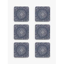 Buy John Lewis Persia Coasters, Blue, Set of 6 Online at johnlewis.com