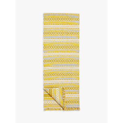 John Lewis & Partners Bombay Table Runner, Saffron, 180cm