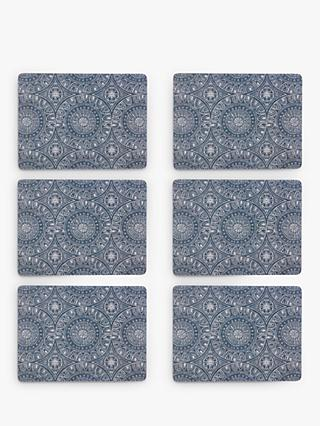 John Lewis & Partners Persia Placemats, Blue, Set of 6