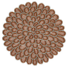 Buy John Lewis Flower Glass Bead Placemat, Pink, Dia.30cm Online at johnlewis.com