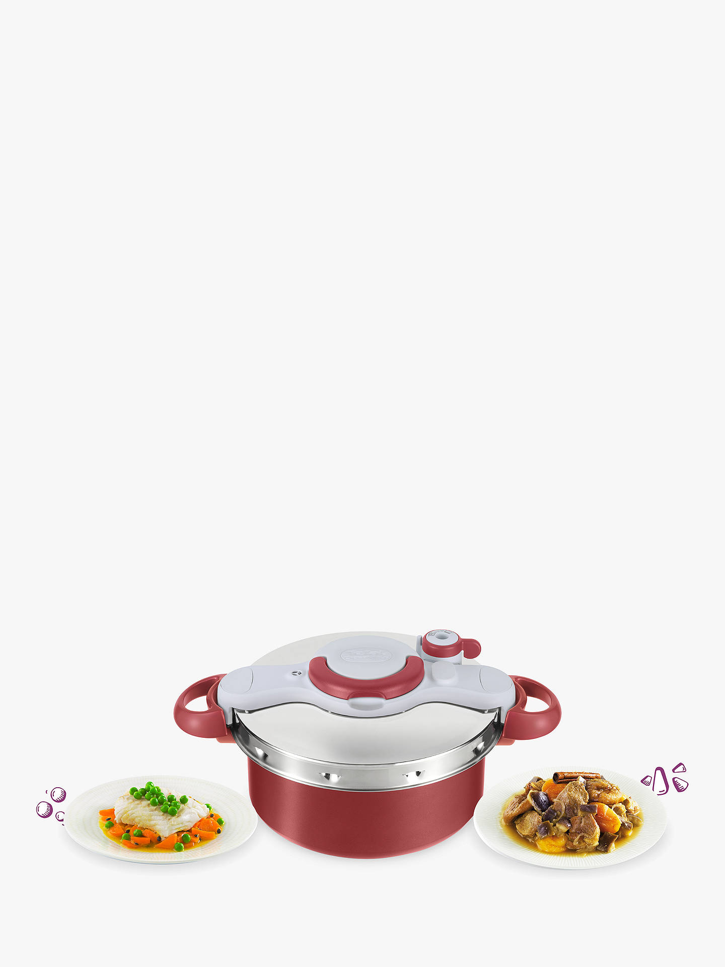 Buy Tefal Clipso Minut' Duo Pressure Cooker, 5L Online at johnlewis.com